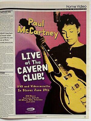 **PAUL MCCARTNEY (BEATLES) VINTAGE BILLBOARD PROMOTIONAL PRINT ADVERT**