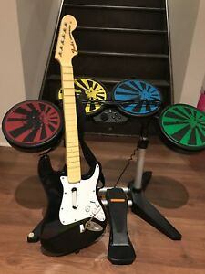 Playstation 3 Rock Band Drums and Guitar