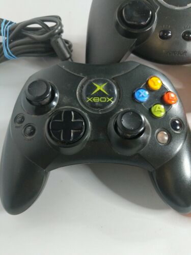Original Lot 2 Xbox OEM Controller Wired Black 1 3rd Party - Please Read - $24.79