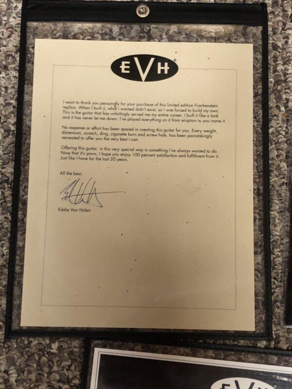 EVH Eddie Van Halen signed COA for Frankenstrat
