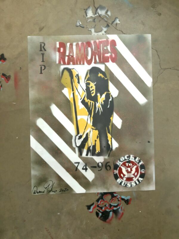 DUANE PETERS PUNK ROCK SKATE JOEYRAMONE POSTER ART 22x28 SIGNED ONE OF A KIND