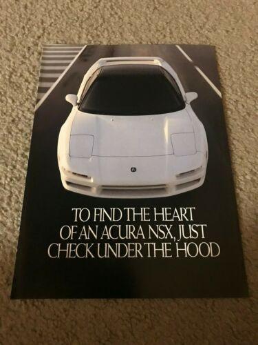 Vintage 1992 ACURA NSX INTEGRA CAR Brochure 4-PG Print Ad 1990s RARE