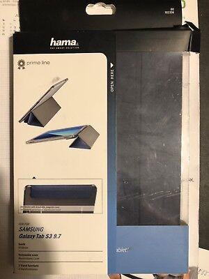 Samsung Galaxy Tab S3 9.7 HAMA Prime Line Tablethülle, Bookcover, 9.7 Zoll, Blau (Galaxy Tab 3 7 Zoll Cover)