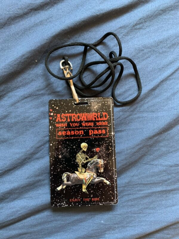 Travis Scott  Astroworld Season Pass Card and Lanyard