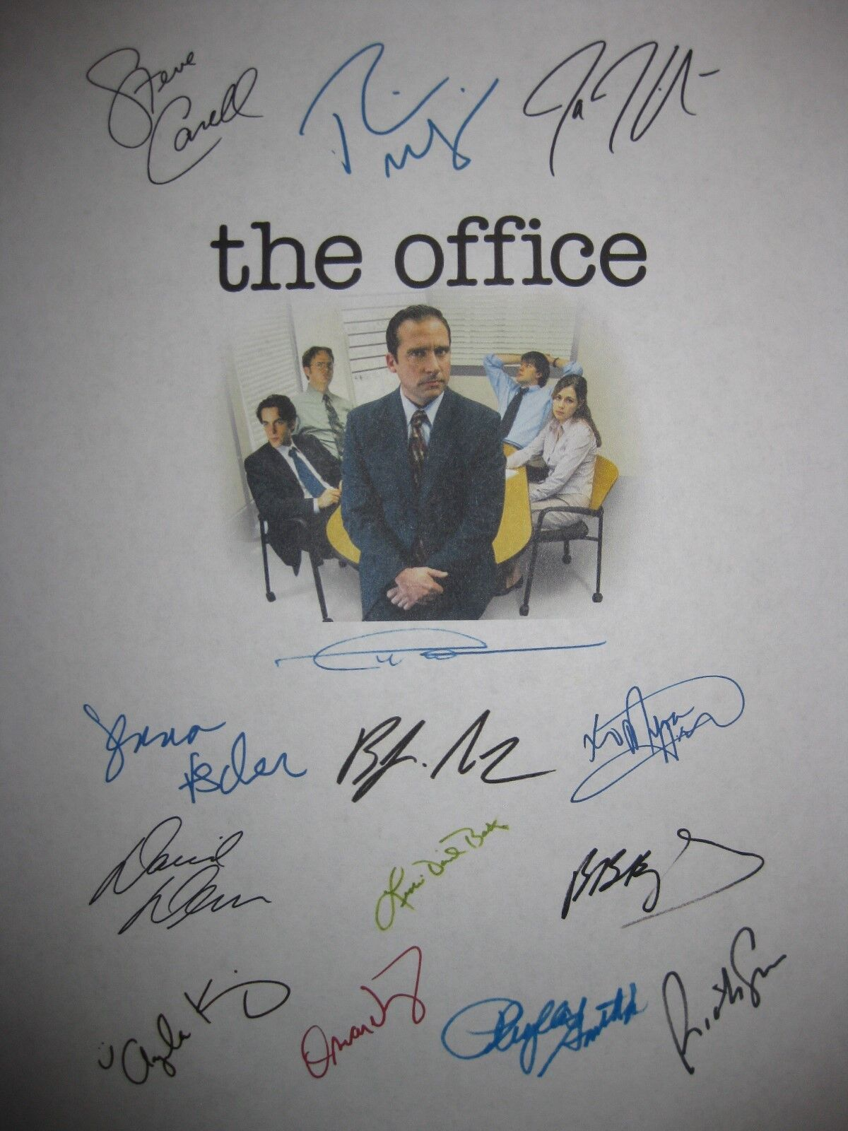 The Office Signed Pilot TV Script X14 Steve Carell Rainn Wilson John Krasinski