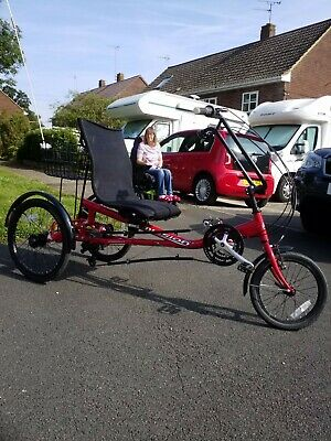 Adult 'Mission Cycles' Semirecumberant Trike. Exceptional.Upgrade to Ebike offer