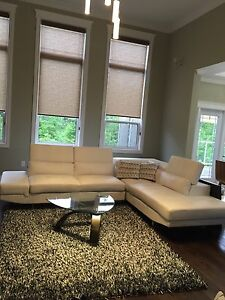 White Leather sectional $250