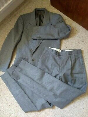 Vintage Burton Collection Grey Stripe Wool Mix Suit Small