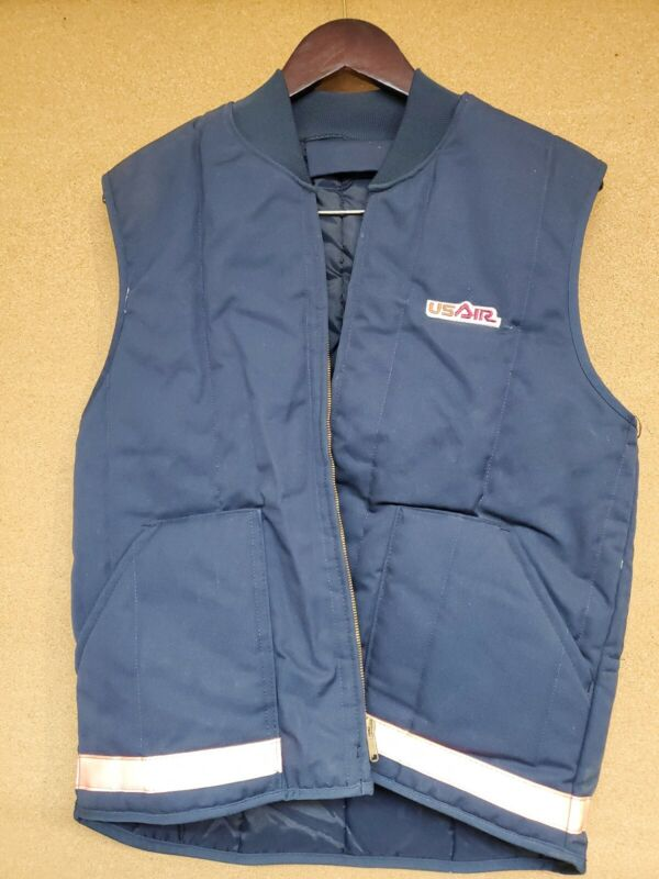Vintage USAIR Quilted Vest Made In The USA Cinta Medium