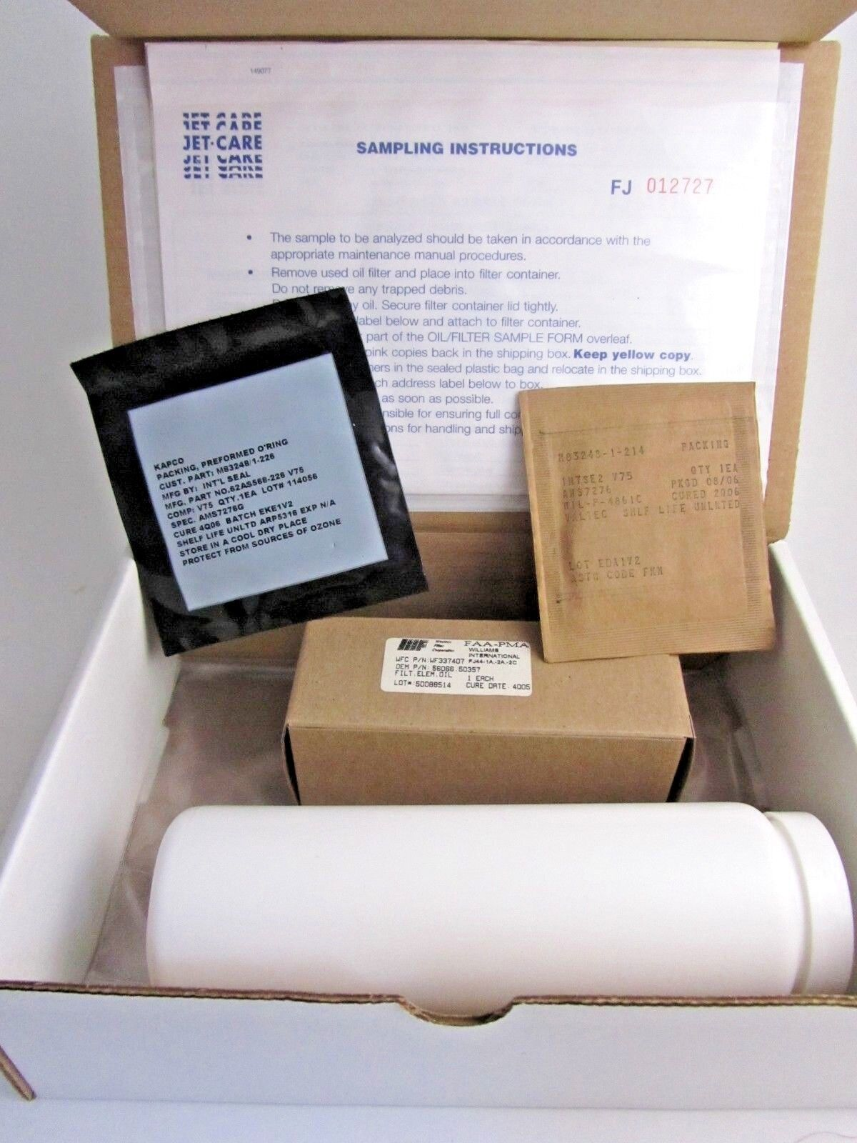 Oil Soap Sample JCL-FJ44 - Soap Kit Jet Care Intl. Aviation Sample Analysis Kit
