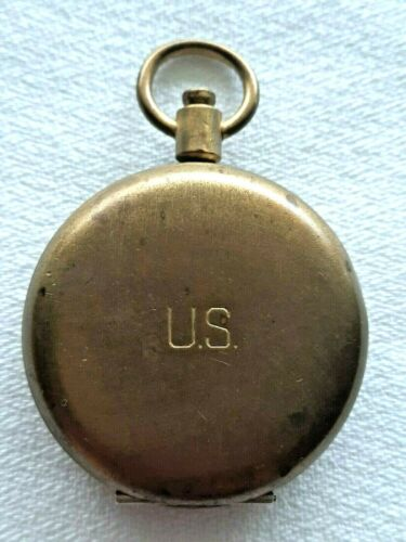 WW2 Era Brass Military Compass S.& W. N.Y. Nice Condition!