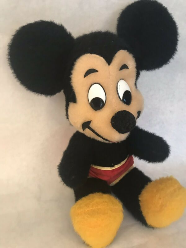 Vintage Walt Disney Mickey Mouse Plush Stuffed Animal California Stuffed Toys