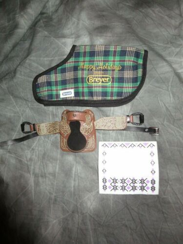 Breyer Holiday Horse Blanket & Western Saddle .. NO HORSE