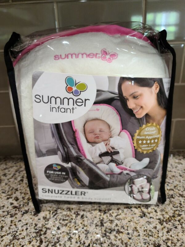 SUMMER INFANT SNUZZLER Pink Support for Carseat, Swing,  Bouncer and Stroller