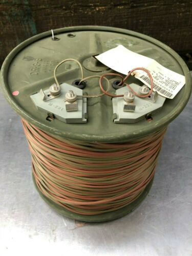 WF16/U Military Telephone Field Radio Wire 1,000ft  SPOOL 6145012599203