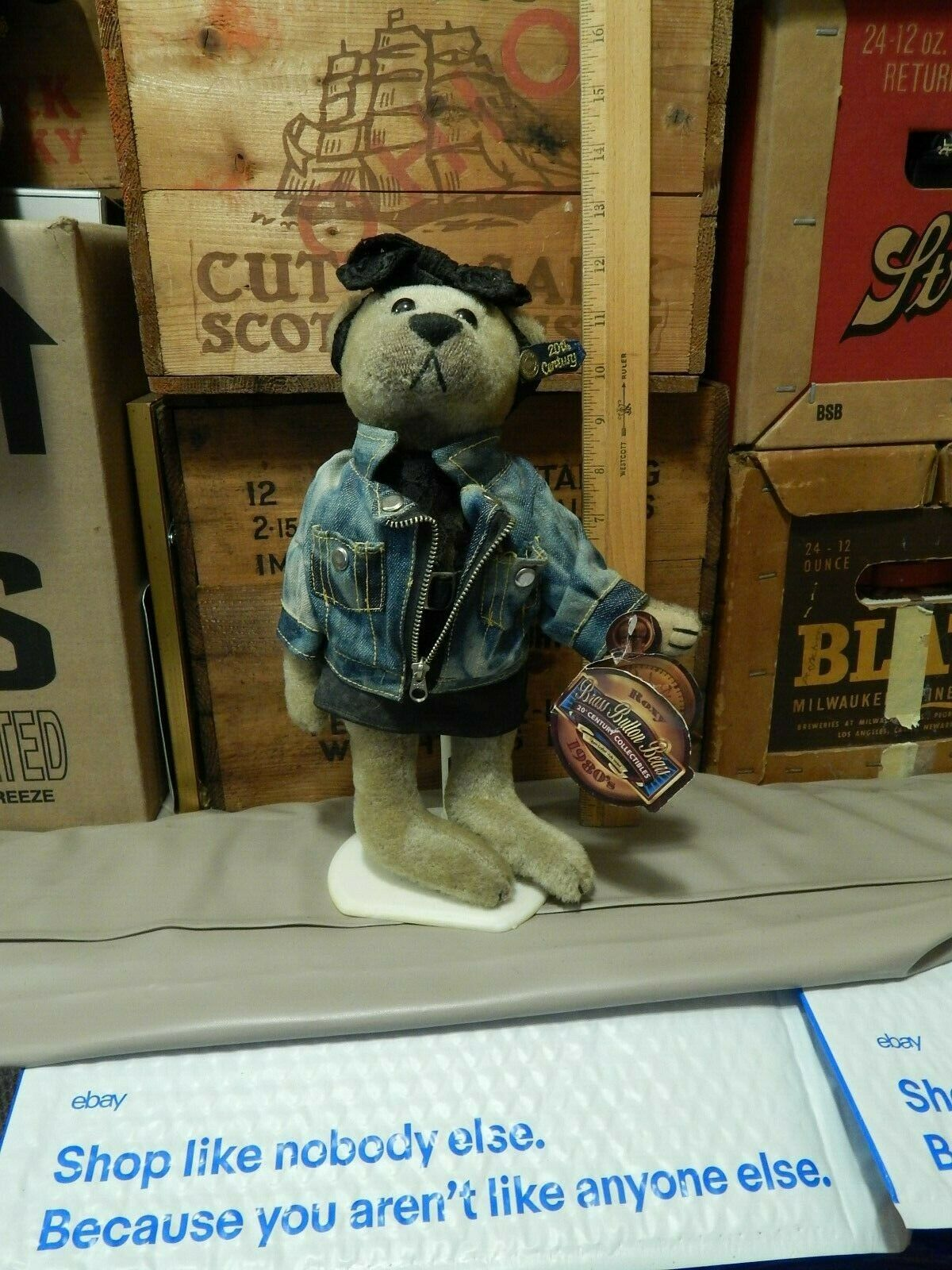 Brass Button Bears ROXY W/ Stand 1980s Like Totally 20th Century Collectible - $14.99