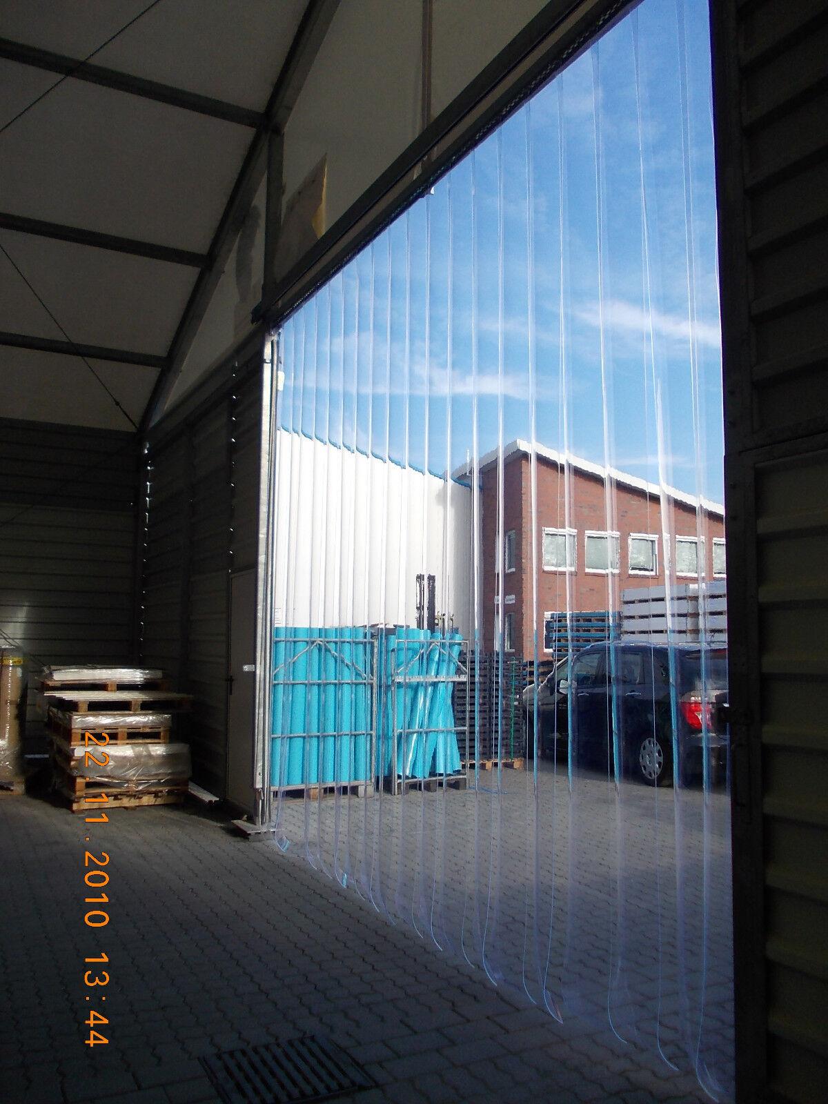 Streifenvorhang Weich PVC (Breite/Höhe) 1,25 m x 2,25 m   300 x 3 mmkomplett: inkl. Anbauteile