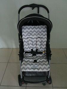 *GREY CHEVRON*universal stroller,pram,car seat liner set *NEW*