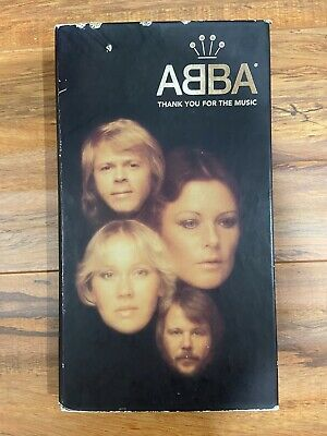 ABBA THANK YOU FOR THE MUSIC [Box] by ABBA (CD, 1994, 4 Discs, Polydor) w/ book
