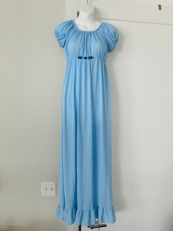 vintage light blue nylon nightgown wendy peterpwn