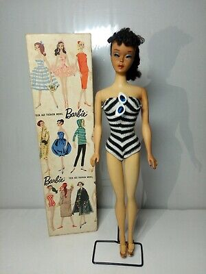 Vintage Barbie Ponytail # 3 with Braid, Box, Stand, Sunglasses