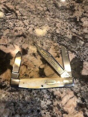Fight'N Rooster Bone Tennessee Stockman Knife