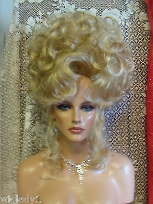 HALLOWEEN SPECIALS VEGAS GIRL WIGS PICK YOUR COLOR GIBSON CORONATION UPDO - Halloween Updos