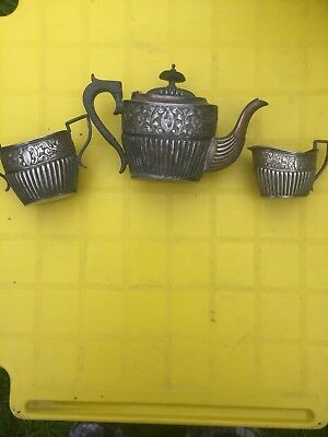 Antiques TEA SET 3 PIECE INDIAN