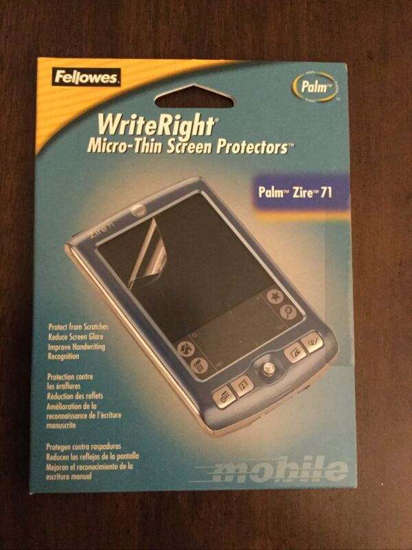 Fellowes WriteRight Micro-Thin Screen Protectors Palm Zire 71 (90261) Obsolete!
