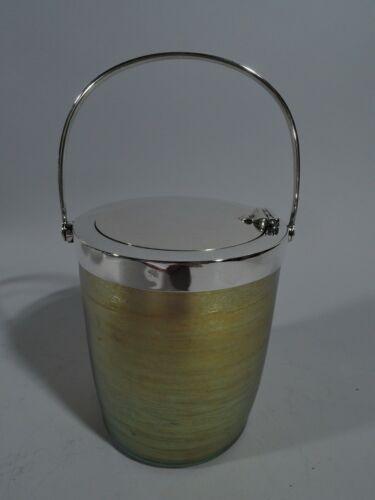 Tiffany Jam Pot - Art Nouveau Jar - American Sterling Silver & Favrile Glass