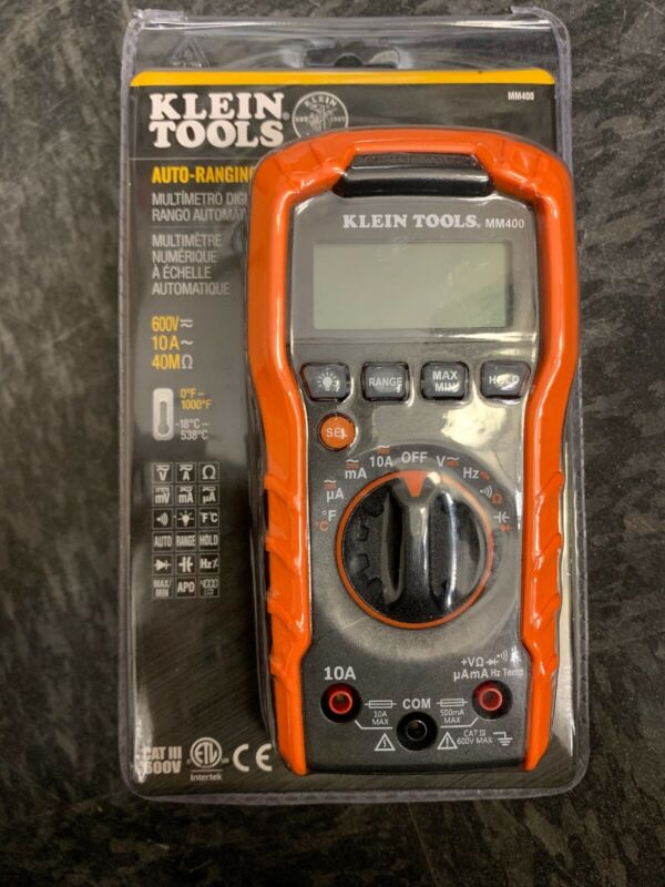 Klein Tools MM400 Auto-Ranging Digital Multimeter 600V New SEALED! FREE SHIPPING