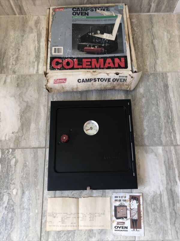 Coleman Camp Stove Oven Model 5010A700 BLACK DOOR & Black Housing w Manual Cmplt