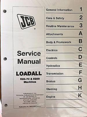 Jcb Loadall 528-70 528s Loader Service Repair Workshop Manual