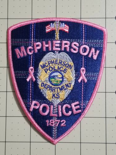 McPherson Kansas Police Pink Patch supporting WACCC.  Only 300 made Sheriff