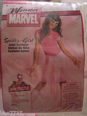 NWT MARVEL GIRLS PINK SPIDER GIRL SPIDERGIRL HALLOWEEN COSTUME SIZE MEDIUM 8-10