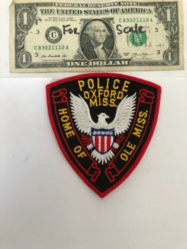 Oxford Mississippi Police Patch Un-sewn great condition