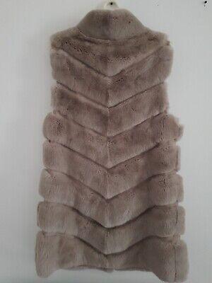Manzoni 24 Rex Vest Jacket Coat Beige Sz S-M Italy Italian