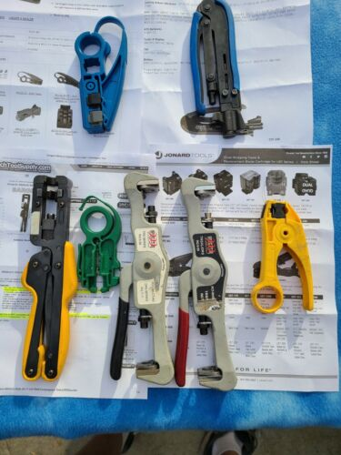 Lot of 7ea. PCT, Sargent, Jonard, Cable Cutters (3ea.) &  Crimpers (4ea.) - used
