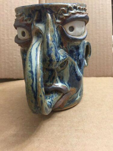 Rezner Alabama  Southern Folk Art Pottery Mug