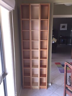 One Only IKEA DVD/CD Towers With Moveable Shelves In Beech