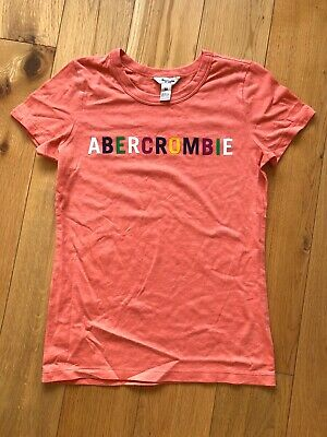 Womens Abercrombie And Fitch Logo T Shirt - Size Medium