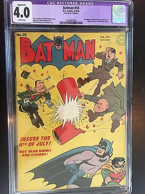 Batman #18 D.C. Comics Golden Age 4.0
