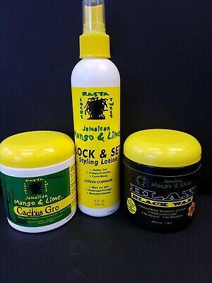Jamaican Mango & Lime | Blax Black Wax/ Lock&Set Styling Lotion/Cactus Gro
