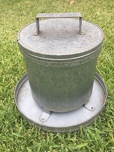 Chicken / Chook Feeder (galvanised) Shelly Beach Caloundra Area Preview