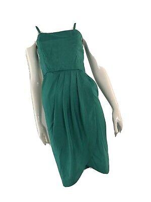 80s Dresses | Casual to Party Dresses Vintage 1980's Silk Tulip Skirt Dress $19.33 AT vintagedancer.com
