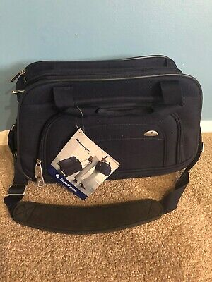 samsonite Blue Carry On Travel Overnight Bag Tote Shoulder Strap OD-17x11x7.5""