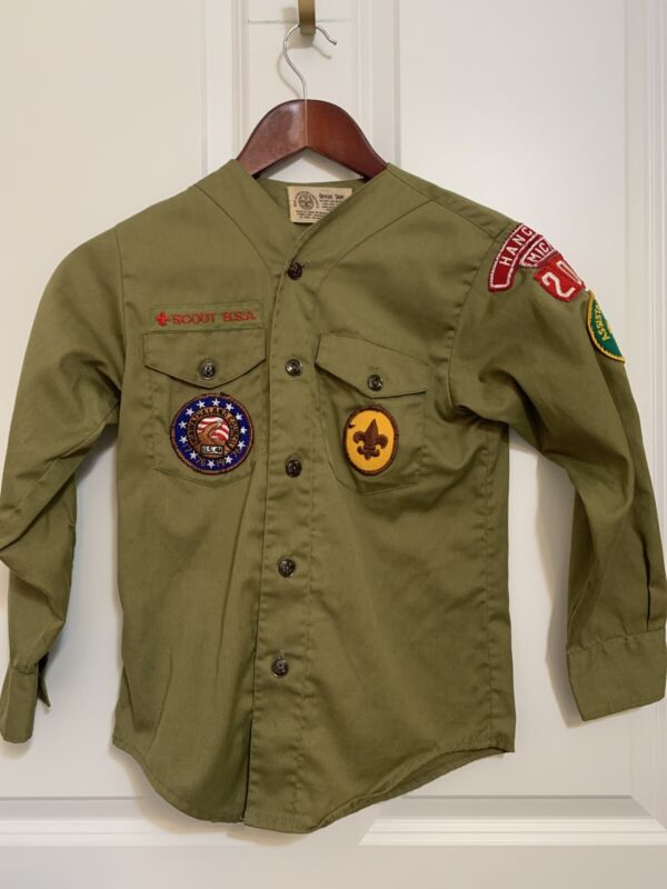 Boy Scouts Of America Vintage Shirt Neck 12 Patches Official Shirt