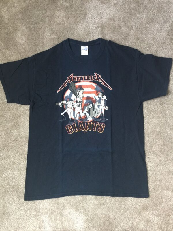 Metallica San Francisco Giants Metallica Night 2013 Event T-Shirt Large