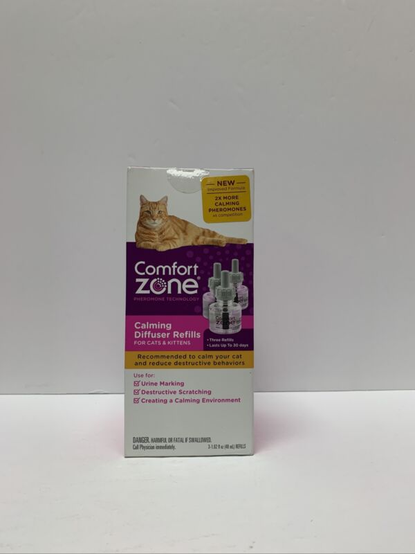 Comfort Zone Calming Diffuser Refills Three Refills - Up To 30 Days - 3-1.62 Oz.