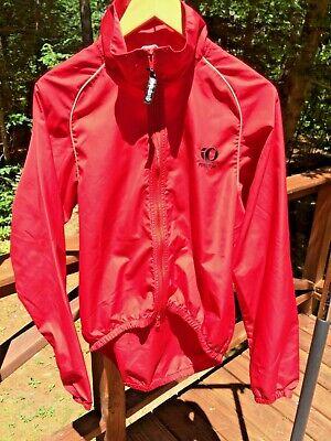 38b85c049 Pearl Izumi Zephrr Men's M Red Poly Cycling Biking Full Zip Windbreaker  Jacket